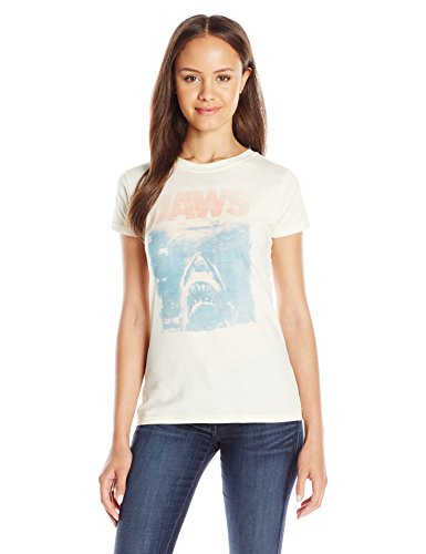 American Classics Juniors Jaws Vintage Graphic Tee, Ivory, X Large