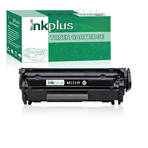 InkPlus Compatible CB536A Toner Cartridge Replacement for HP Laserjet M1319f Multifunction Printer Toner Cartridge,Black(1 Pack).
