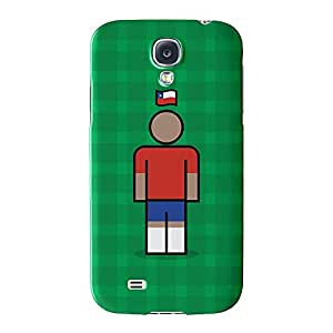Chile Full Wrap High Quality 3D Printed Case for Samsung? Galaxy S4 by Blunt Football International + FREE Crystal Clear Screen Protector