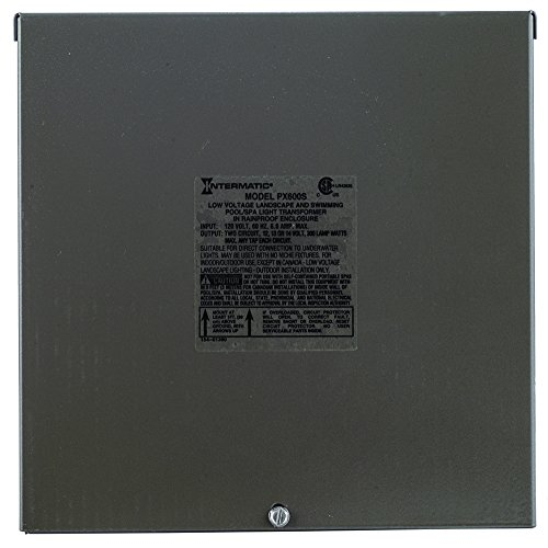 600w Steel Transformer Stainless (Intermatic PX600S Pool Light 600-Watt Safety Transformer, Stainless Steel, Brown)