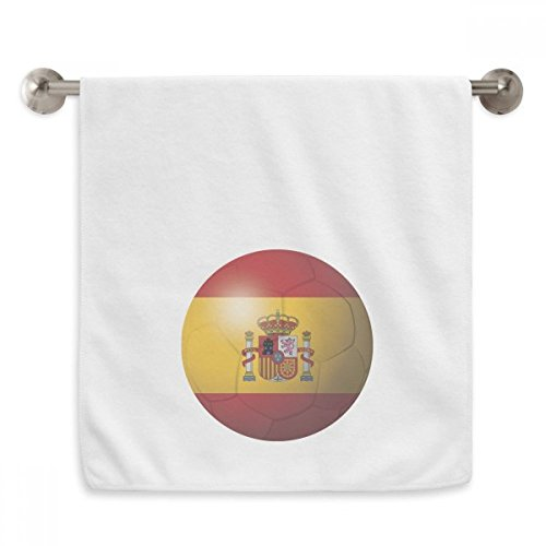 DIYthinker Spain National Flag Soccer Football Circlet White Towels Soft Towel Washcloth 13x29 Inch by DIYthinker