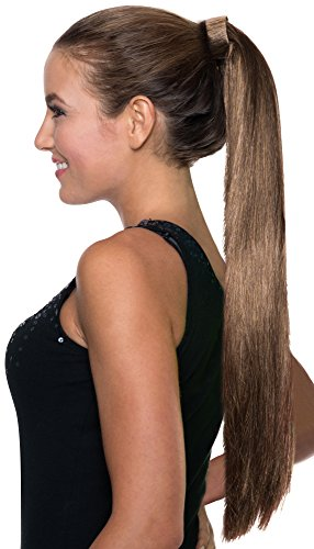 Rubie's Costume Co Women's Clip-On Pony Tail, Brunette, One Size (Brunette Halloween Costumes)