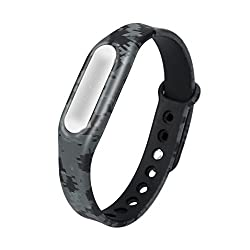 Watchband,aobiny Camouflage Pattern Strap Wristband Bracelet Replacement For Xiaomi Mi Band 1s (C)