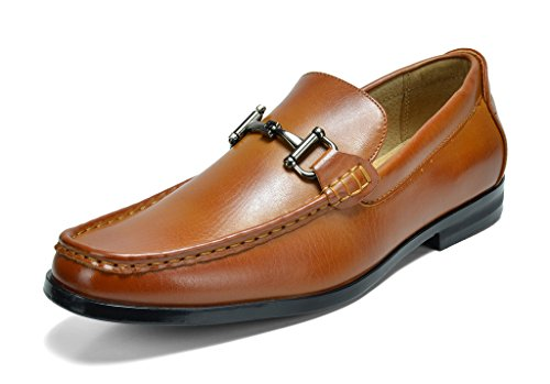 Bruno Marc Men's Harry-01 Tan Dress Penny Loafers Shoes - 10.5 M US