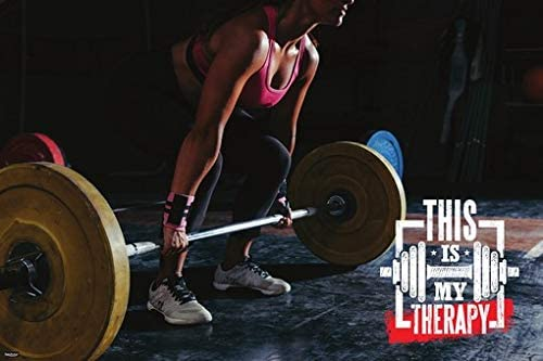 "Women Gym Fitness Poster 24/""x 36/"" HD"