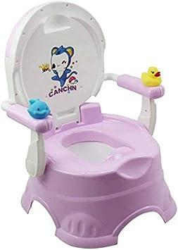 JYFLY Inodoro para Entrenamiento con Asiento para baño para bebés con Escalera de Mano Silla para Inodoro para baño 2 en 1 para niños con asa y Respaldo Antideslizante Fácil Fácil: Amazon.es: