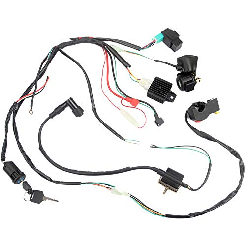 SODIAL Atv Off-Road Vehicle Atv Wiring Harness Wiring Loom Cdi Ignition Coil Kill Switch Plug Reconstruction Kit for 50Cc 70Cc 90Cc 110Cc Full Car Line Electrical Combination: