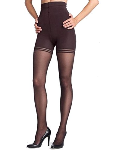 Donna Karan Womens Hosiery Signature Sheer Satin Pantyhose, Small, Chocolate