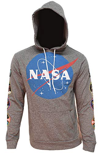 NASA Hoodie Mens Original Logo Hooded Sweatshirt with Patch Designs