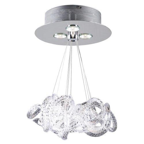 PLC Lighting 96973 PC 3 Light Ceiling Light Elegance Collection