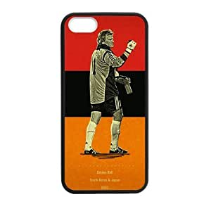 iPhone 5 Case, [soccer player] iPhone 5,5s Case Custom Durable Case Cover for iPhone5 TPU case(Laser Technology)