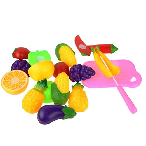 Education toys,Baomabao 11PC Cutting Fruit Vegetable Pretend Play Children Kid Educational Toy