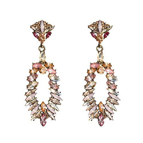 (Colorful drop earrings luxury statement earrings for women dangle summer earings female trendy fashion jewelry,RED)