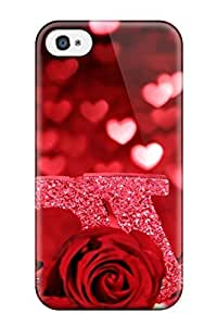 Tpu Case For Iphone 4/4s With Pretty Love
