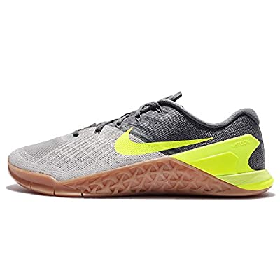 Nike New Men's Metcon 3 Cross Training Sneaker (10.5, Dark Grey/Volt-Pale Grey)