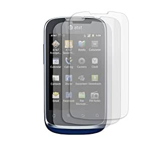 FINCIBO (TM) 3 packs Custom-Fit Transparent Crystal Clear Screen Guard Protector Shield Film Kit For Huawei Fusion U8652