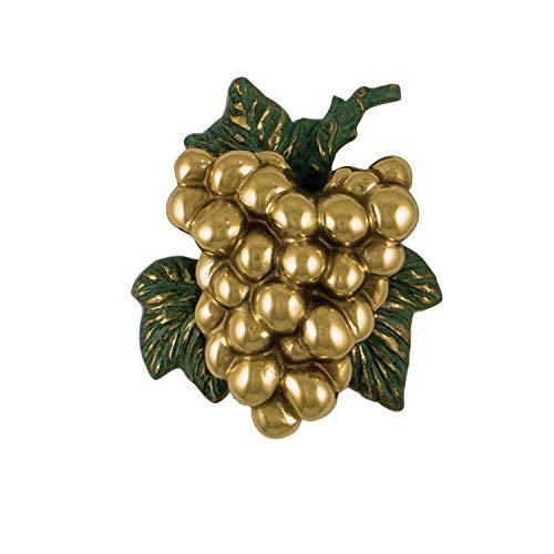 Grapes on The Vine Door Knocker - Brass (Premium Size)