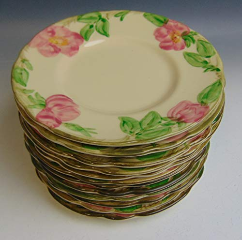 Lot of 12 Franciscan China DESERT ROSE USA STAMP Bread & Butter Plates VERY GOOD