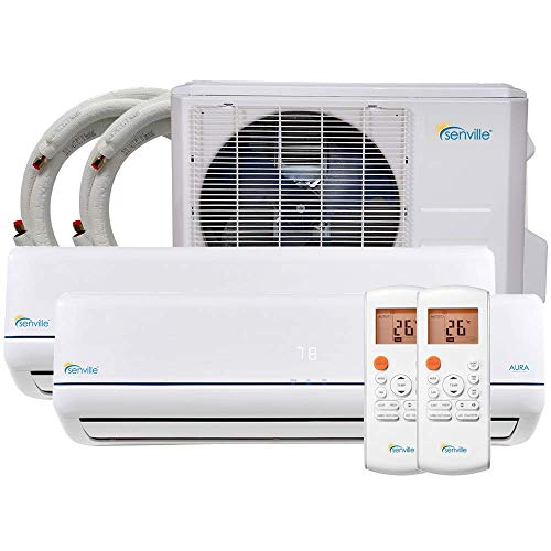 Senville 28000 BTU Dual Zone Mini Split Air Conditioner Heat Pump SENA-30HF/D