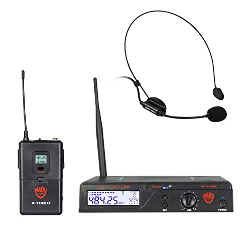 Nady U-1100 HM 100-Channel UHF Wireless Headset Microphone System(with newly upgraded deluxe headmic)