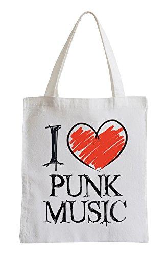 I love Punk Music Fun Jutebeutel