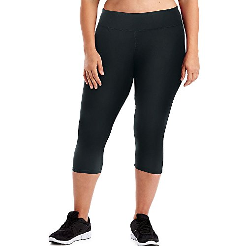Just My Size Black Stretch Capris - 5