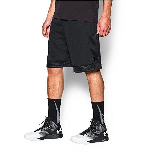 Under Armour Men's Baseline Basketball Shorts, Black/Black, Medium