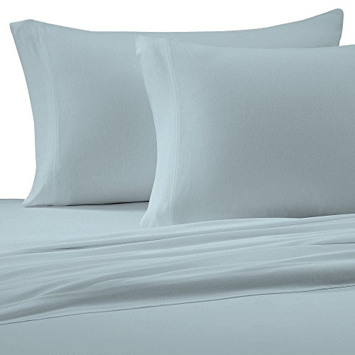 BrielleCotton Jersey Knit (T-Shirt)Sheet Set, Twin / Twin XL, Light Blue ()