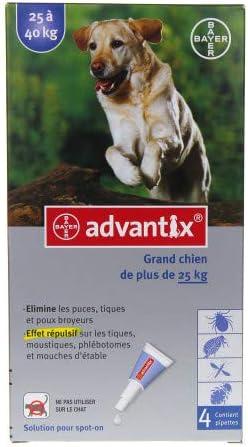 ADVANTIX - Perro Grande 25-40 kg, 4 piquetas