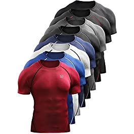 Neleus Men's Compression Baselayer Athletic Workout T Shirts