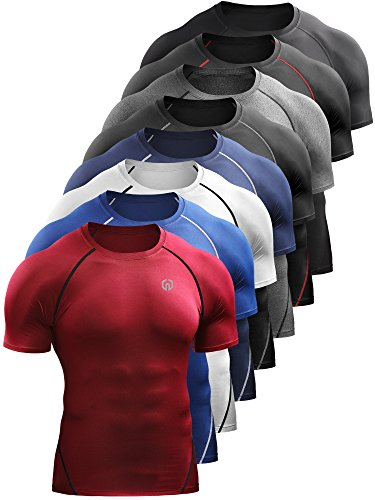 Neleus Men's Compression Baselayer Athletic Workout T Shirts 1 3 Pack – DiZiSports Store