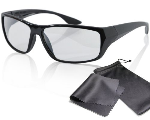 Passive 3D Movie & TV Glasses - Black - Passive Circularly Polarized - For Reald Cinema and Passive 3D Tvs Such As Lg