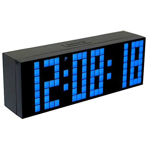 Chihai 9.6-Inch Big Digital Led Display Board Countdown Function Snooze Alarm Clock(blue) (5 Function Digital Clock)