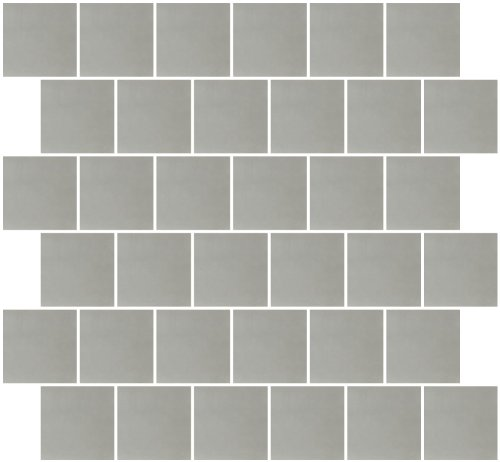 Susan Jablon Mosaics - 2x2 Inch Silver Mirrored Glass Tile Reset In Offset Layout