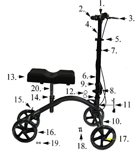 Replacement Parts for Drive 790 Knee Walkers - All Parts Sold Separately - (13. New Knee Pad - Serial # 3H160523661 & Newer)