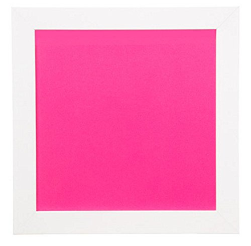 All Things You 30023389 Decorative Framed Dry Erase Board: White & Hot Pink, 14