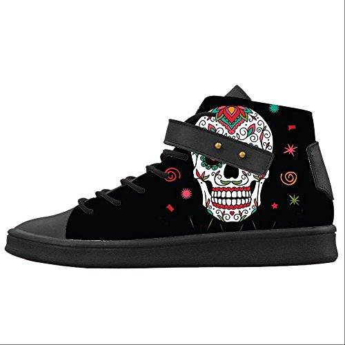 Custom Teschio Womens Canvas shoes Le scarpe le scarpe le scarpe.