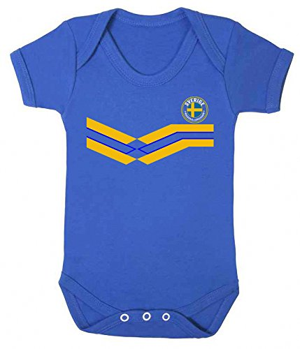 Price comparison product image Sverige Sweden World Cup 2018 Babygrow Football New Style Retro