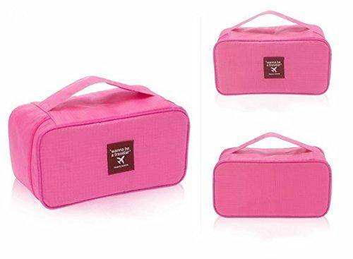 KINGLAKE Hot Brand New Portable Waterproof Travel Toiletry Bag/Shaving Bag Underwear Pouch Organizer (Pink)