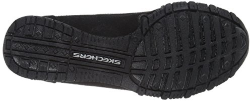 Nero Donna basso Skechers Canvas Scarpe Pedestrian a Black Bikers collo xYwqA0qPv