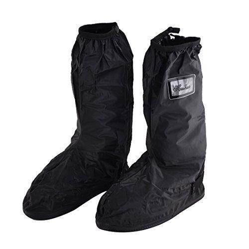 eDealMax Homme PVC rutilisable Rsistant  l'eau Schage Chaussures antidrapants Couvre-Chaussures Noir Paire XL