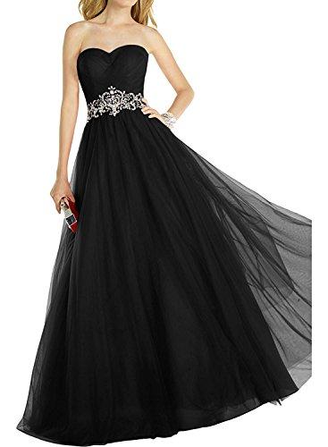 Lang A mia Linie Ballkleider La Herzausschnitt Rot Schwarz Abendkleider Prinzess Abiballkleider Abschlussballkleider Braut Elegant qw7T1TnaU