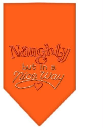 Naughty but in a Nice Way Rhinestone Bandana Orange Small Case Pack 24 Naught... by DSD