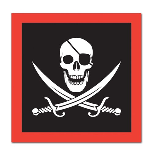 Pirate Luncheon Napkins (2-Ply)    (16/Pkg) (Party Pirate Napkins Luncheon)