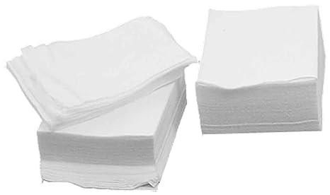 Sourcingmap - Toallitas de algodón para desmaquillar (200 unidades), color blanco