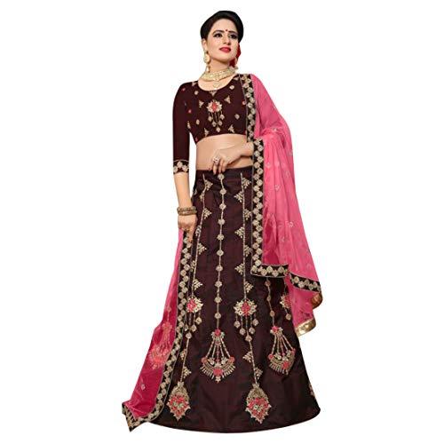 ETHNIC donna seta da per Lehenga Abiti sposa da EMPORIUM Designer Choli cerimonia Abiti per 2856 di Work matrimoni Jari Dupatta indiana rtqrgUHw
