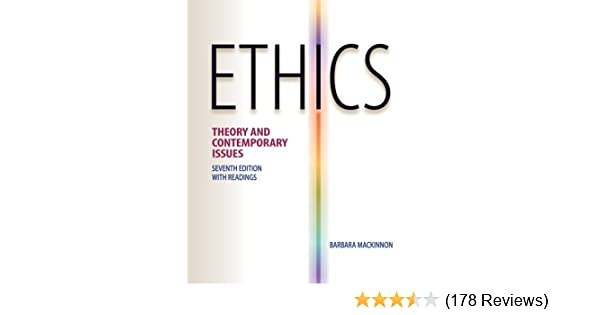 Amazon. Com: ethics: theory and contemporary issues (9780538452830.