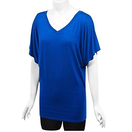 Noir Neck Soiree Hawaienne Casual Chic Couleur Deep Femme Casual La Plus Top Bleu Femmes Challeng Shirt Chemise V Pure Taille Blouse T YqwtxXnvva