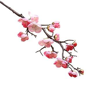 Nyalex 1 PCS Artificial peach blossom Plum silk flower Home Wedding Decoration 22