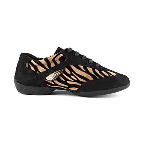 Suéde tiger Sneakers Dance Portdance textil Noir Sneaker Femmes sole Pd04 IAwgxCWUq